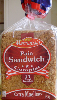 Pain Sandwich, Complet (Extra Moelleux) 14  Maxi Tranches - Prodotto - fr