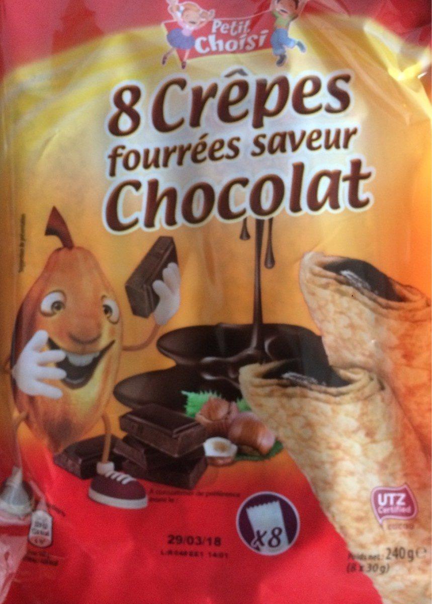 8 crepes fourrées saveur chocolat - Produit - fr