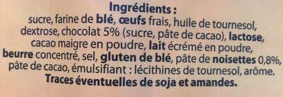 8 crepes fourrées saveur chocolat - Ingrédients - fr