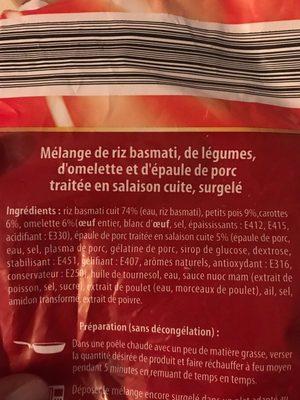 Nouilles a la chinoise - Ingrédients - fr