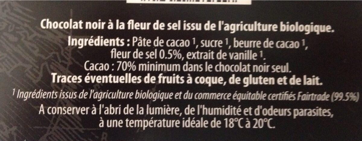Chocolat noir à la Fleur de Sel - Ingredients - fr
