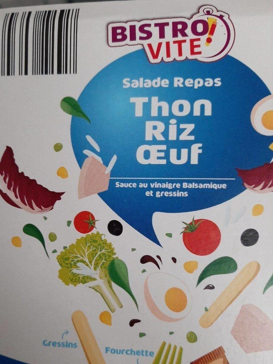 Salade repas thon riz oeuf - Produit - fr