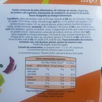 Salade repas thon riz oeuf - Informations nutritionnelles - fr