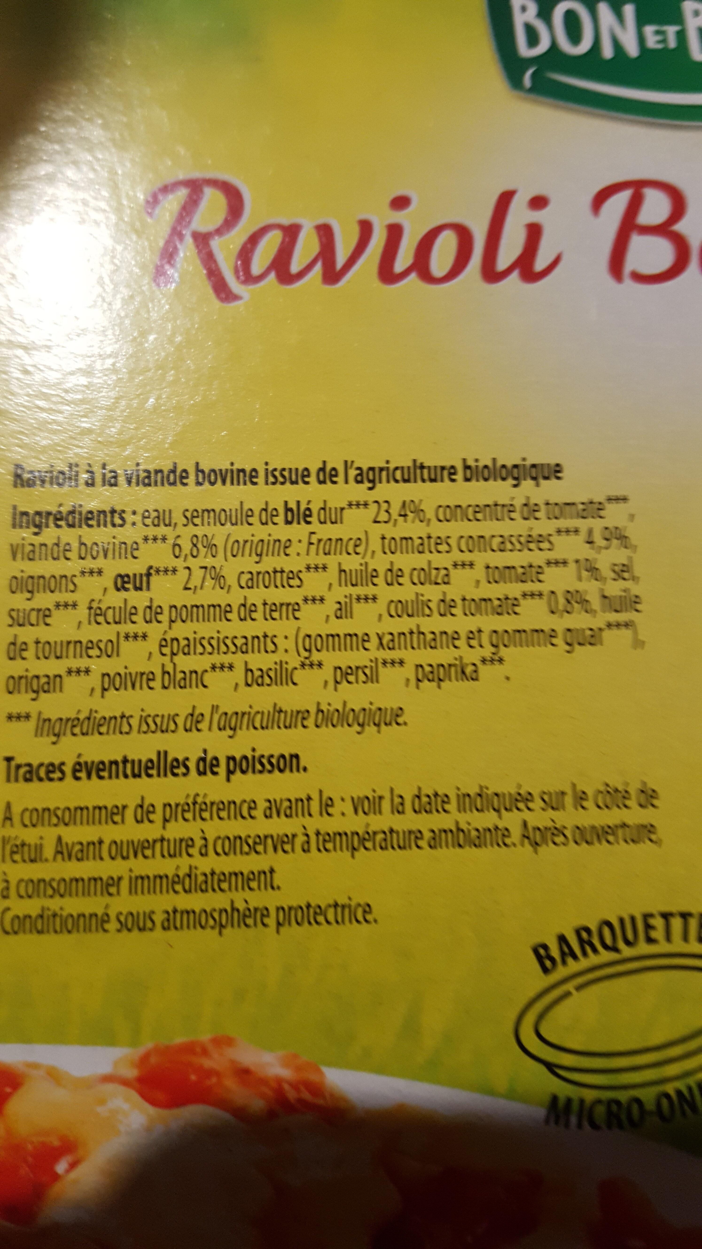 Raviolis bolognaise - Ingrédients