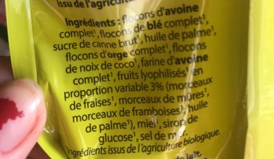 Muesli Fruits rouges - Ingredients - fr