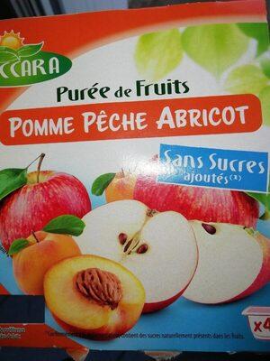 Purée de fruits pomme pêche abricot - Product