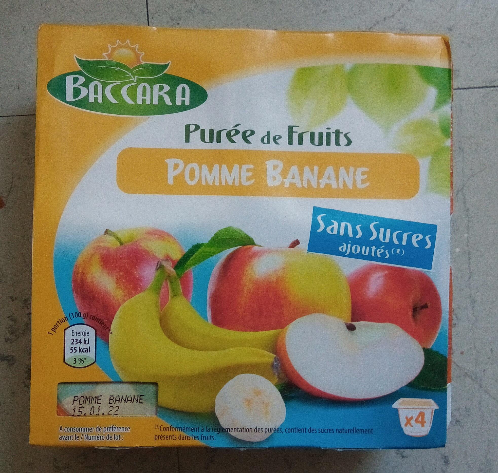 Purée de fruits pomme pêche abricot - Produit - fr