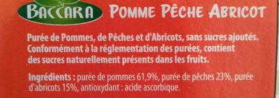 Purée de fruits pomme pêche abricot - Ingredients - fr