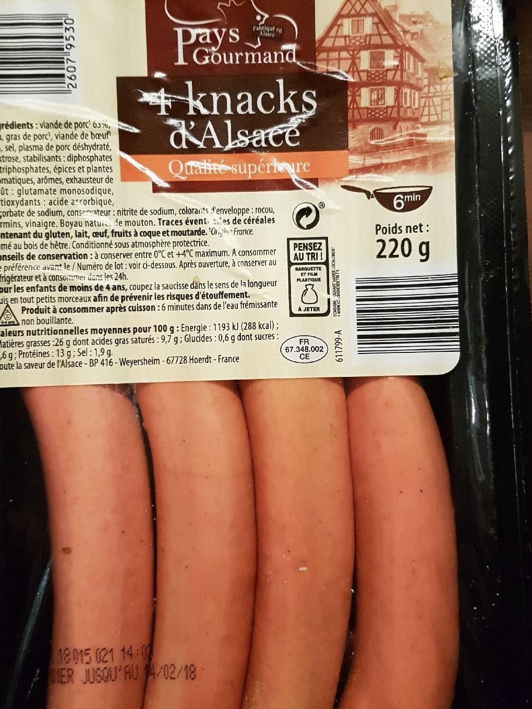 Knacks d'Alsace - Product