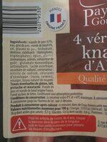 Snacks d'Alsace - Voedingswaarden - fr