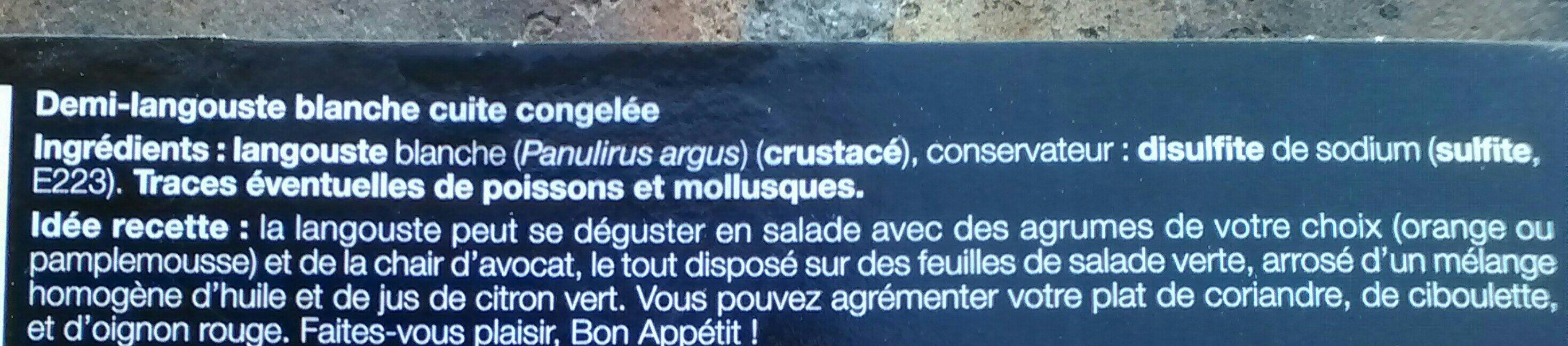 Langouste blanche des Caraïbes - Ingrediënten