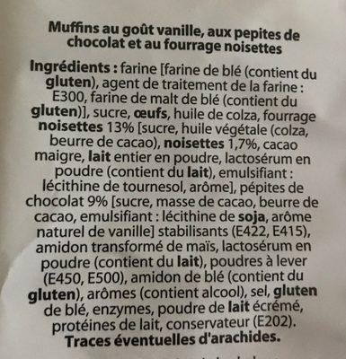 4 Muffins - Ingrédients - fr