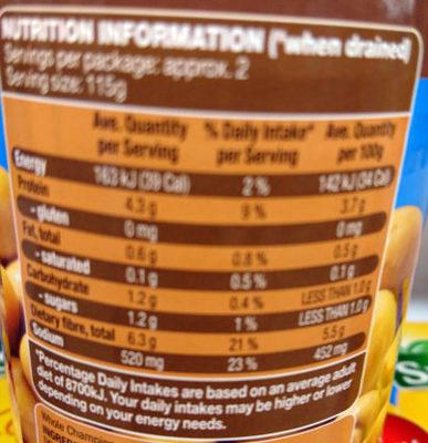 Whole Champignons - Nutrition facts - en