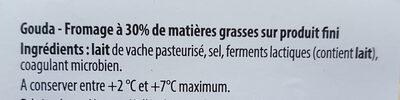 Gouda 10 tranches - Ingrediënten - fr