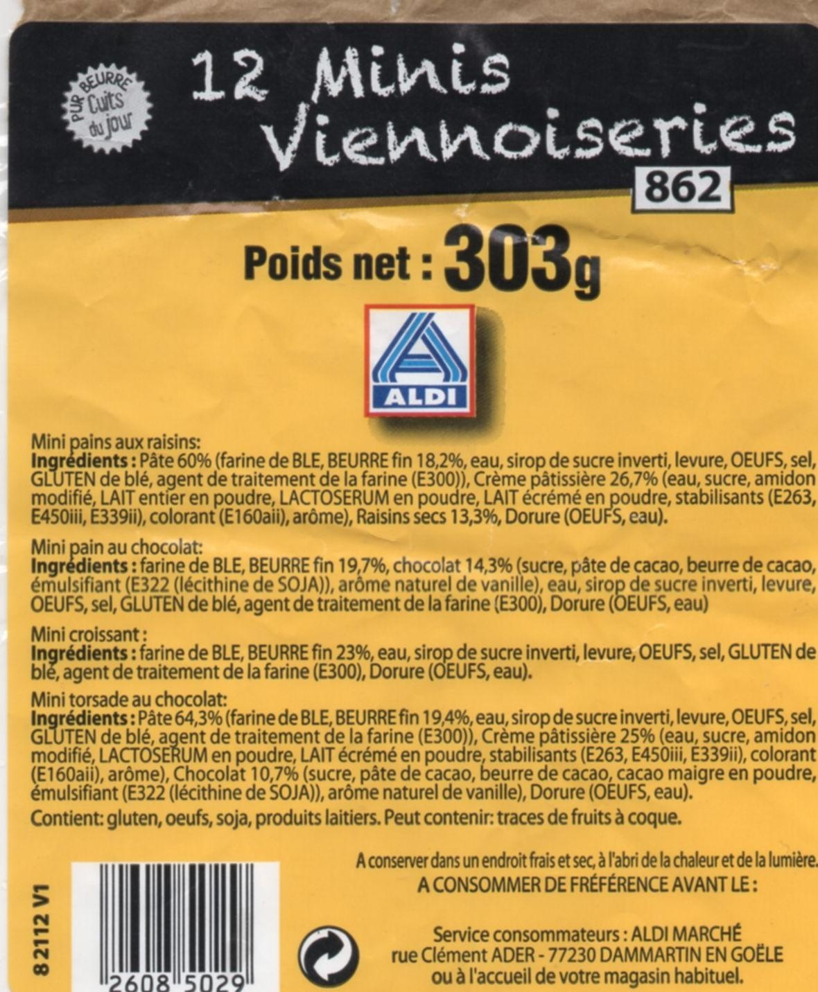Minis viennoiseries - Produit