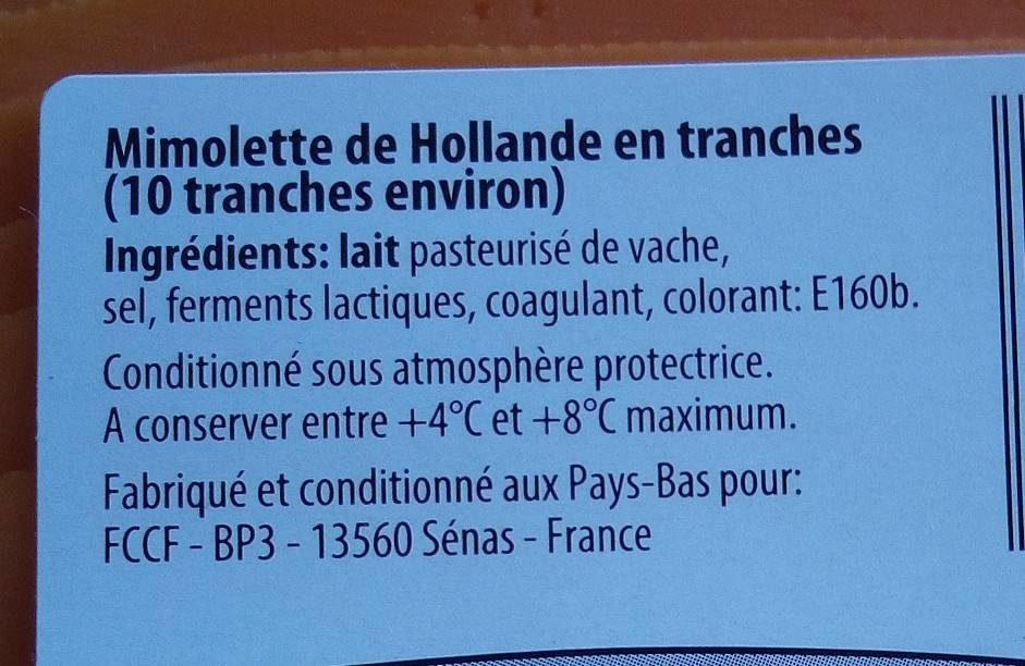 Mimolette - Ingrediënten - fr
