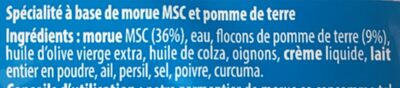 Brandade parmentière de morue - Ingrédients - fr