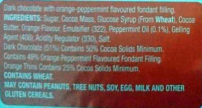 Fine Chocolate Orange Thins - Ingredients