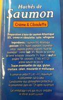 Hachés de saumon - Ingredients - fr