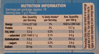 Crispettes - Informations nutritionnelles - en