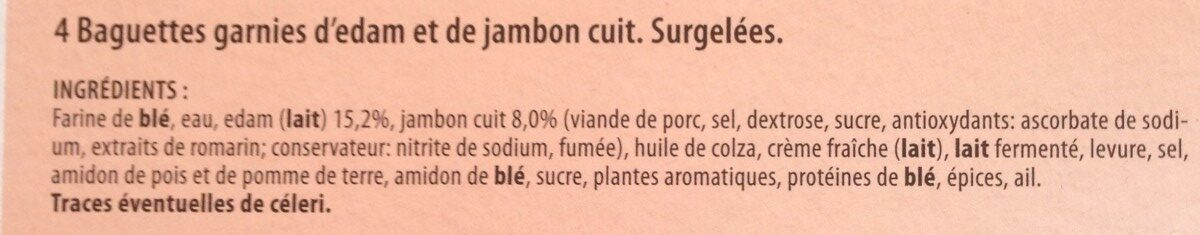 Baguettes jambon - Ingredients - fr