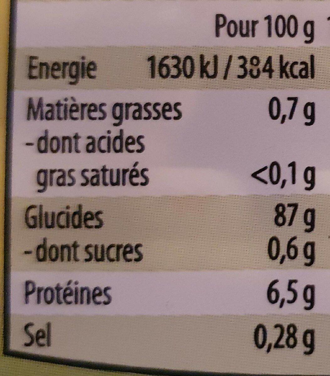 Galettes de mais - Nutrition facts - fr