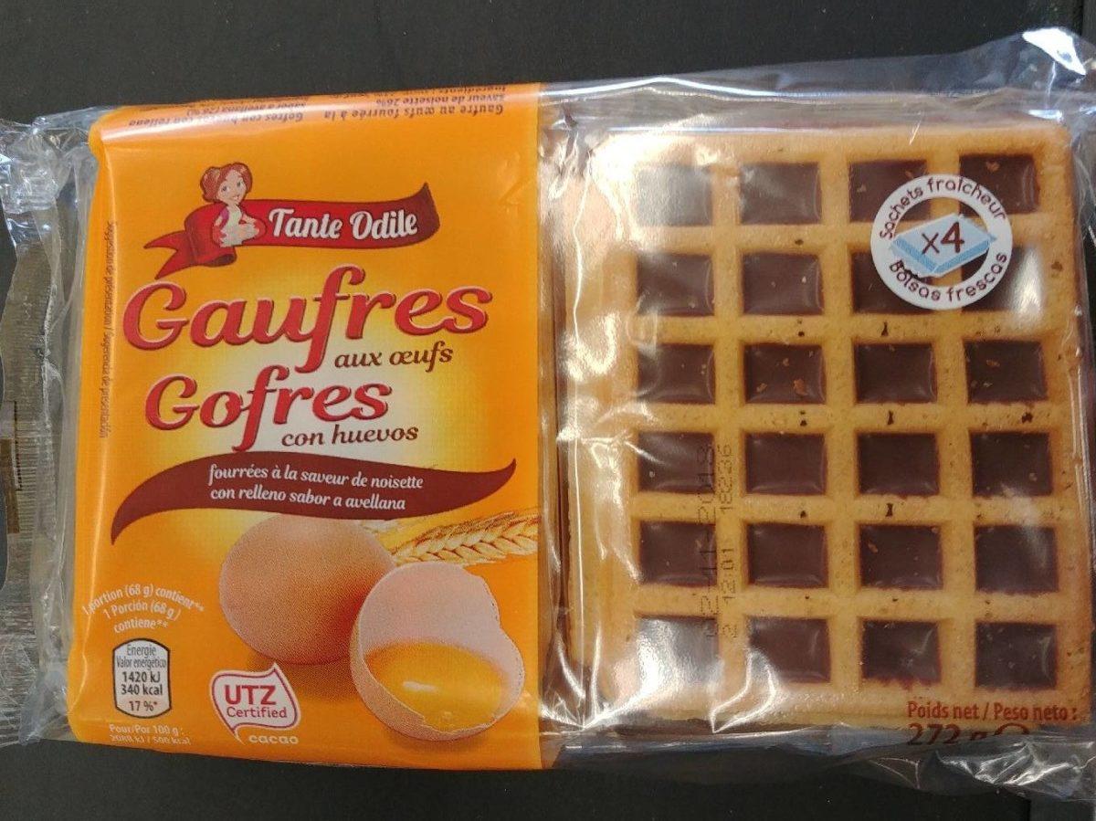Gaufres aux Œufs Fourrées à la Saveur de Noisette - Produit - fr