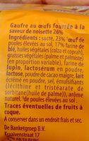 Gaufres aux Œufs Fourrées à la Saveur de Noisette - Ingrédients - fr