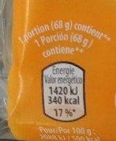 Gaufres aux Œufs Fourrées à la Saveur de Noisette - Informations nutritionnelles - fr