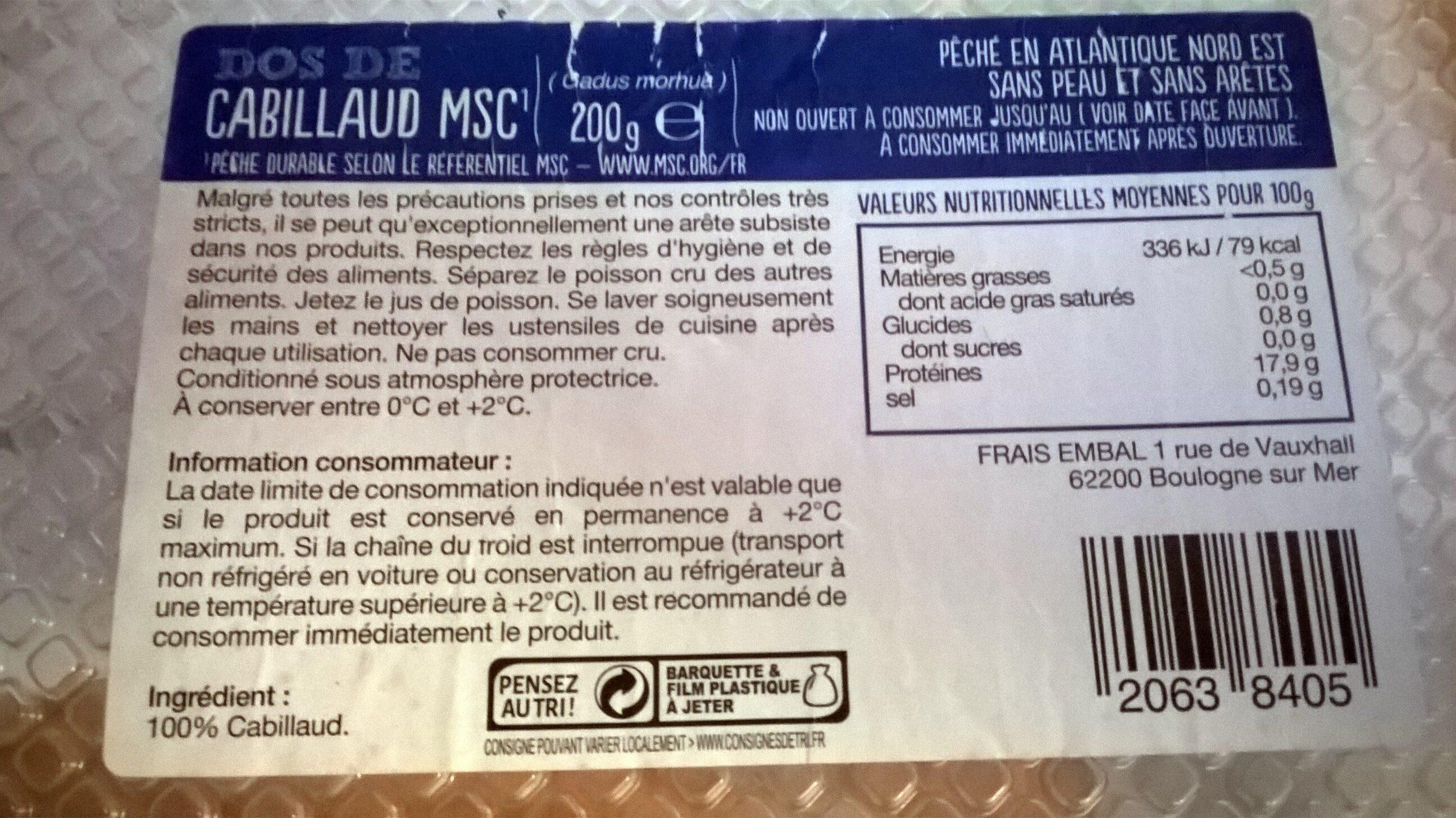 CABILLAUD - Produit - fr