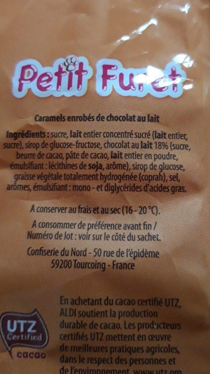 Souris caramel - Informations nutritionnelles