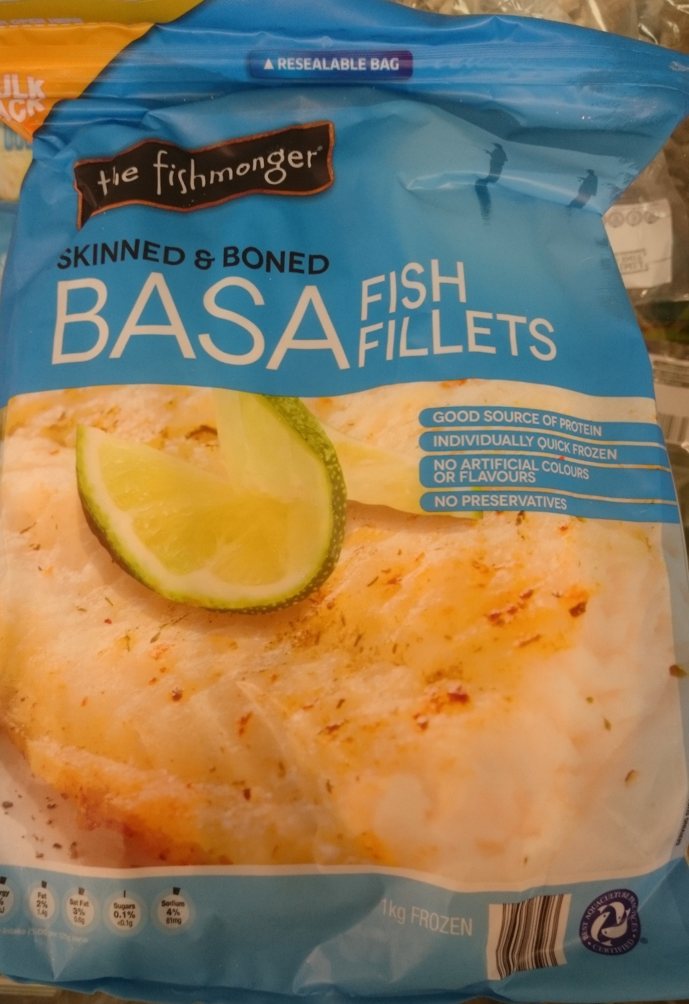 Basa Fish Fillets Skinned and Boned - Product - en