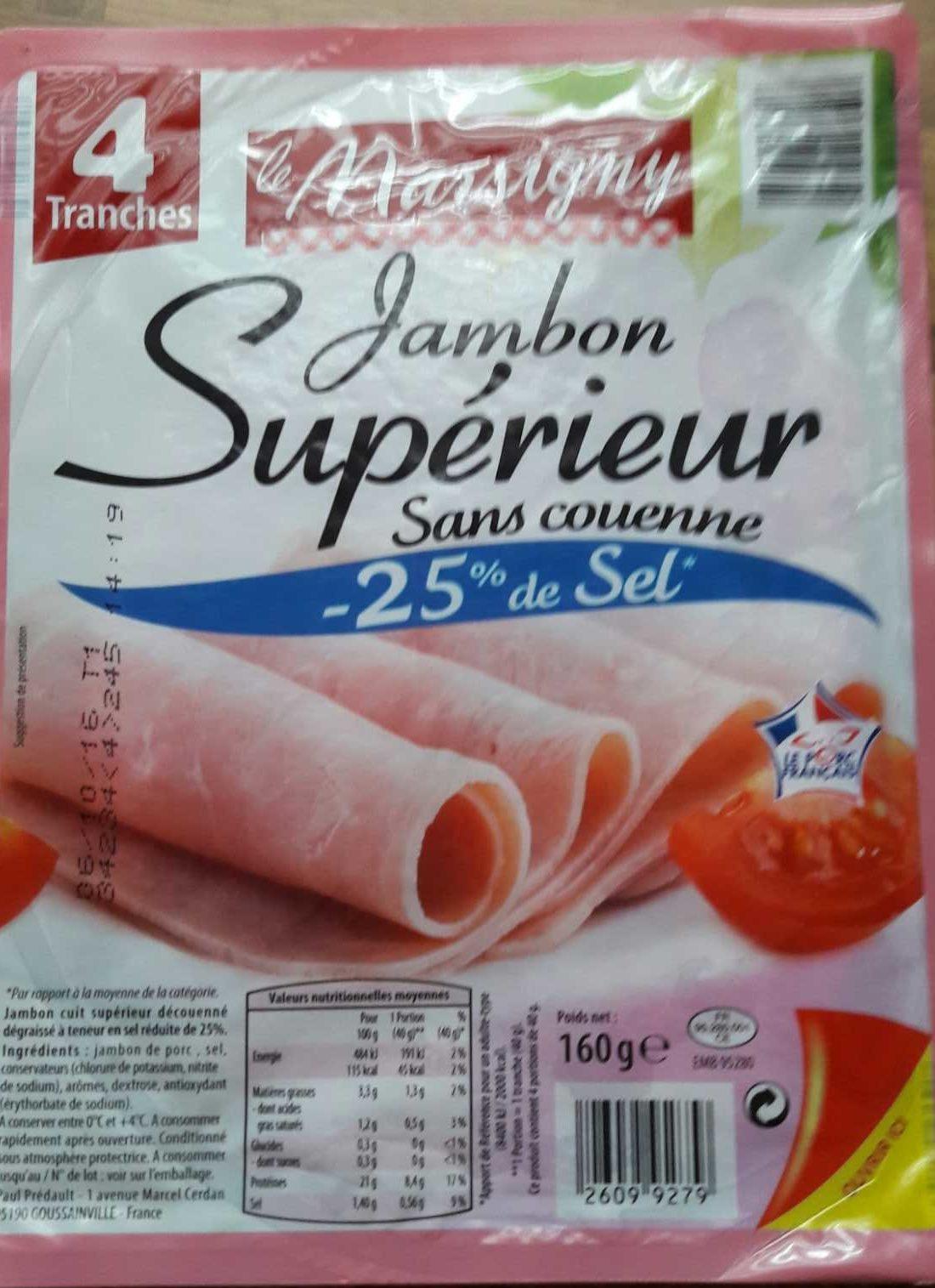 Jambon supérieur  -25% de sel - Product
