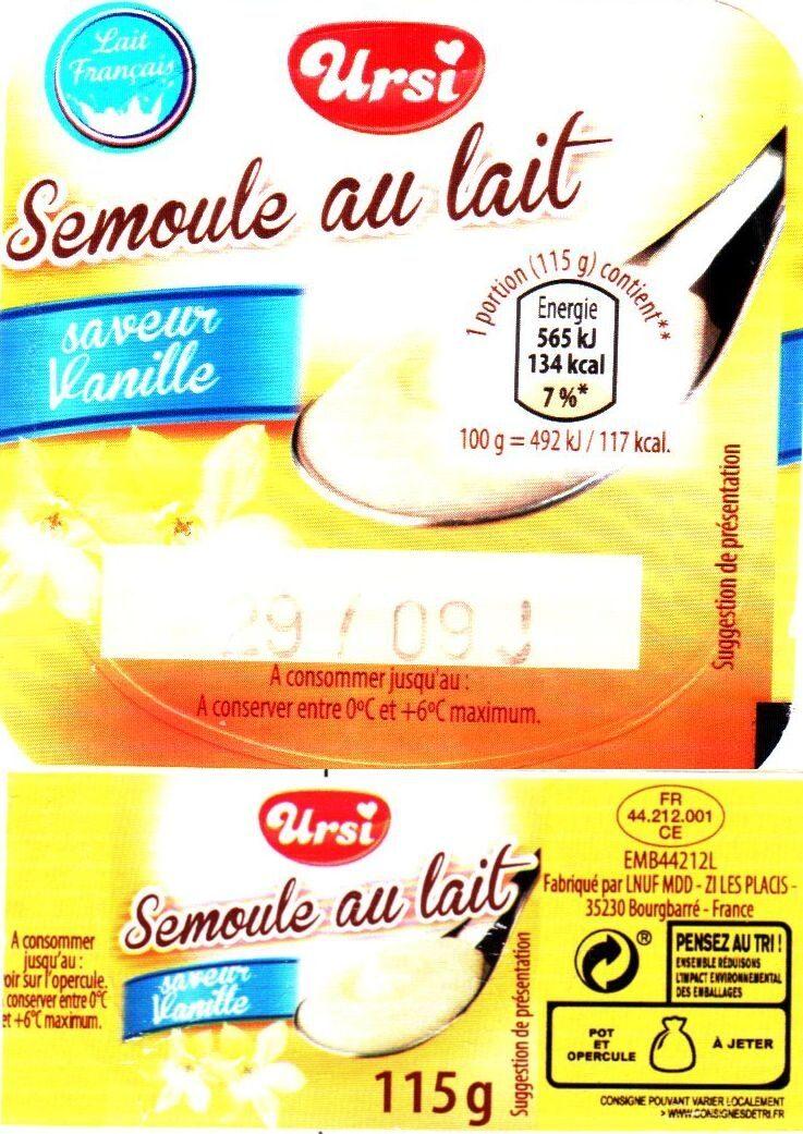 Semoule au lait - Produit