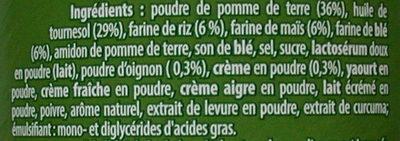 Tuiles salées à base de pommes de terre et céréales saveur crème & oignon - Ingrédients