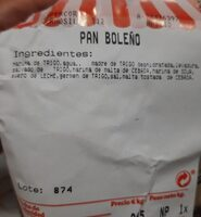 Pan Boleño - Informació nutricional