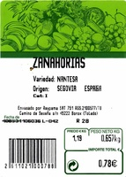 Zanahorias - Ingredients