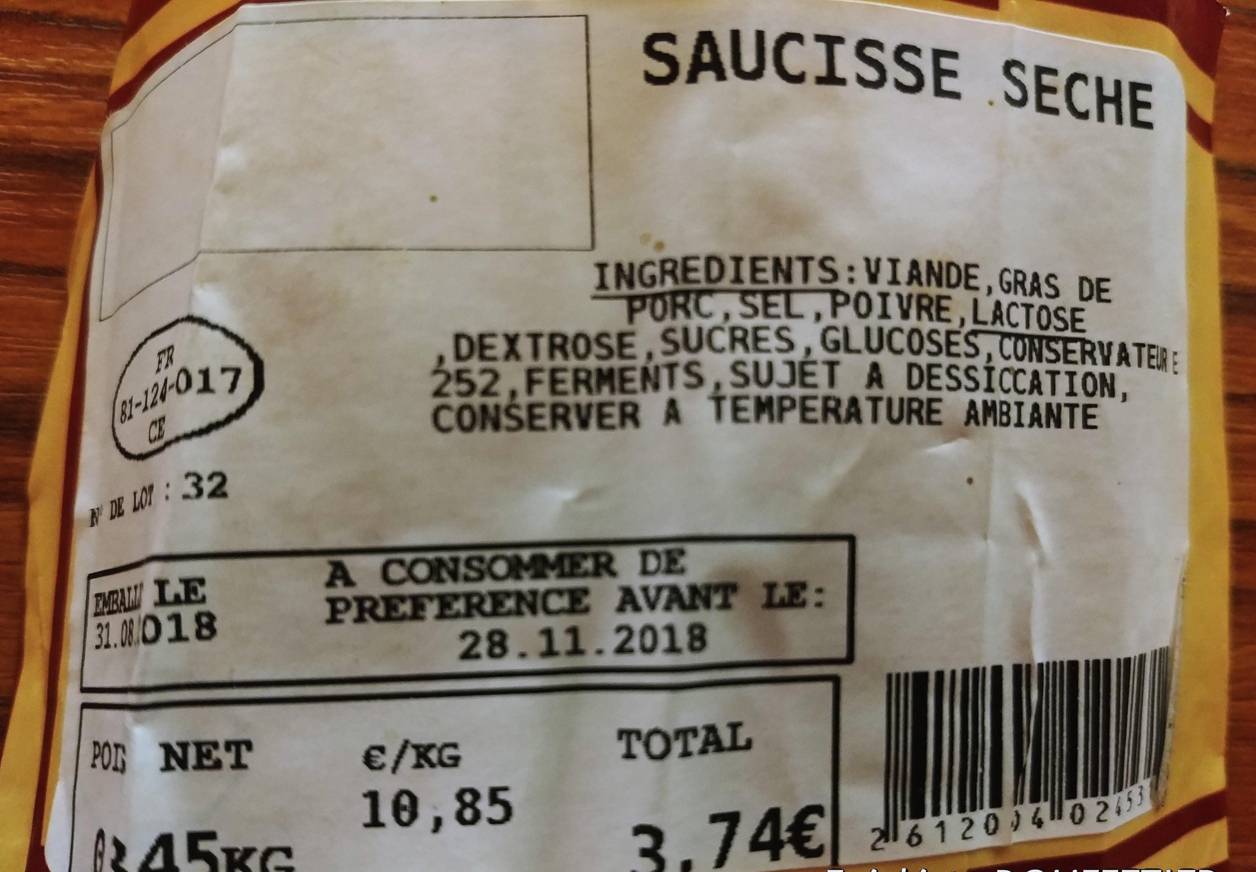 Saucissz Seche - Produit