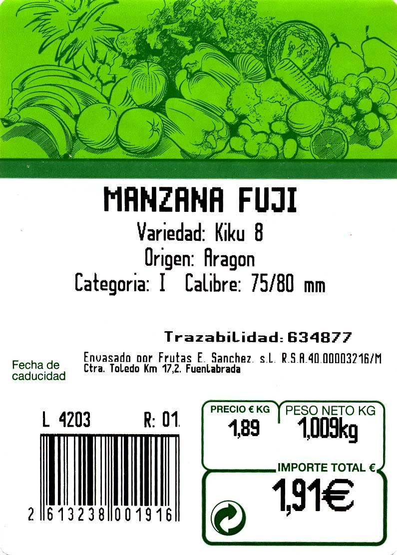 Manzana Fuji - Ingredientes - es