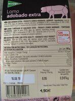 Lomo adobado extra - Informations nutritionnelles - es