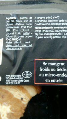 Rillauds - Ingrédients - fr