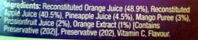 Breakfast juice - Ingredients