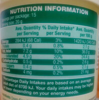 Farmdale Fresh Sour Cream Cooking - Nutrition facts - en