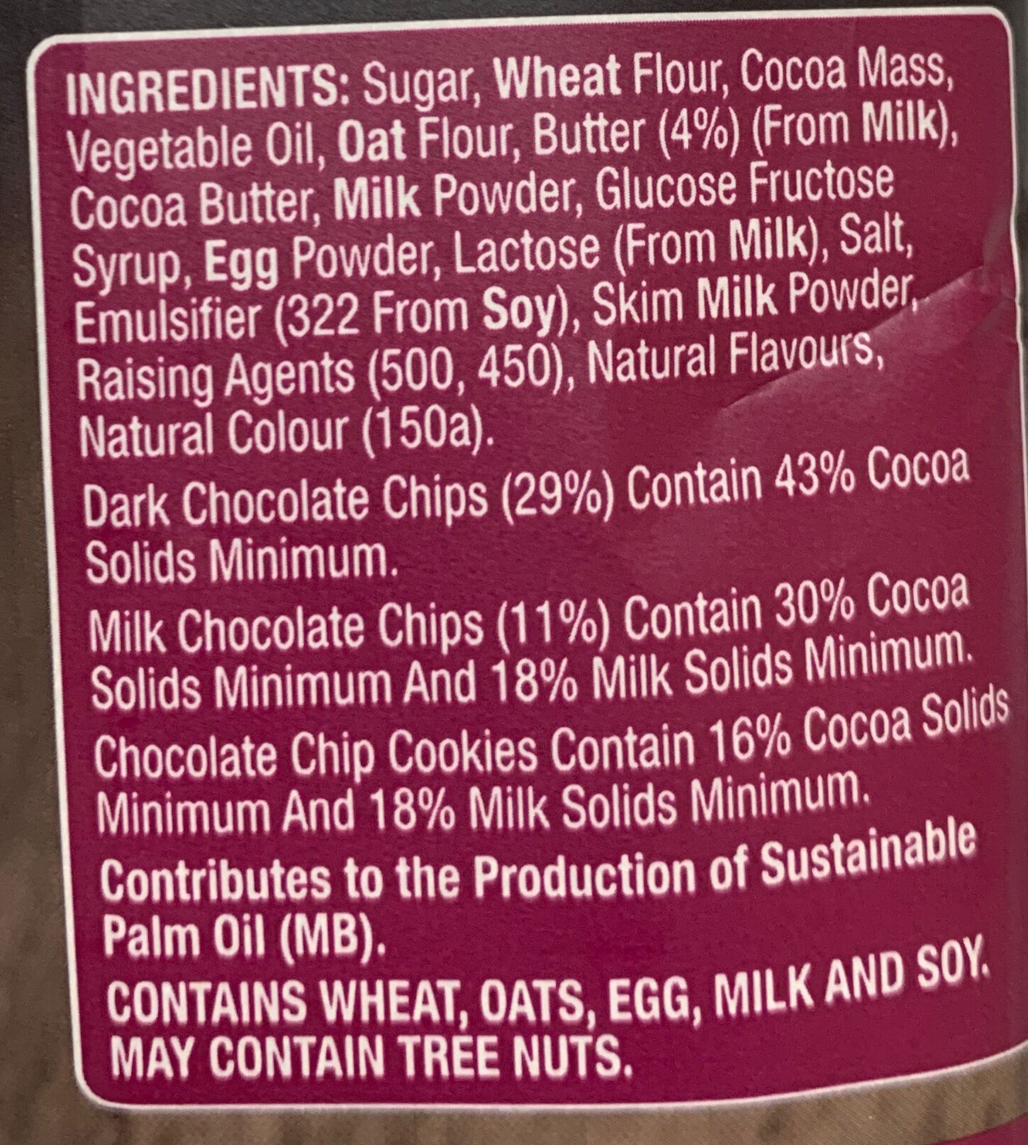 Signature Cookies - Ingredients - en