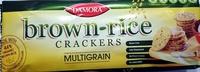 Brown Rice Crackers Multigrain - Product - en