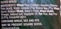 Soy & Linseed Bakehouse Bread - Ingredients - en