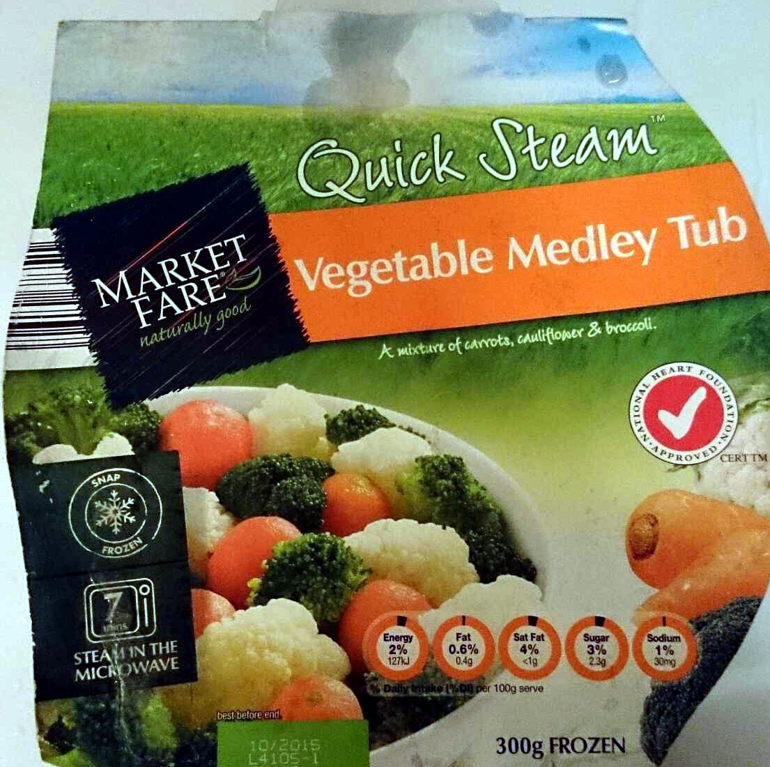 Vegetable Medley Tub - Produit