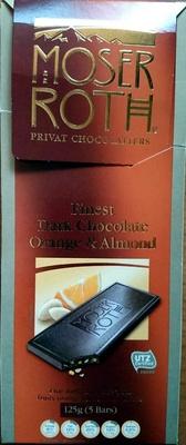 Finest Dark Chocolate - Orange & Almond - Produit - en