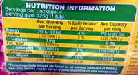 Diced Fruit Salad in Juice 4 Pack - Nutrition facts