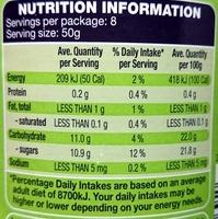 Apple Sauce - Nutrition facts - en